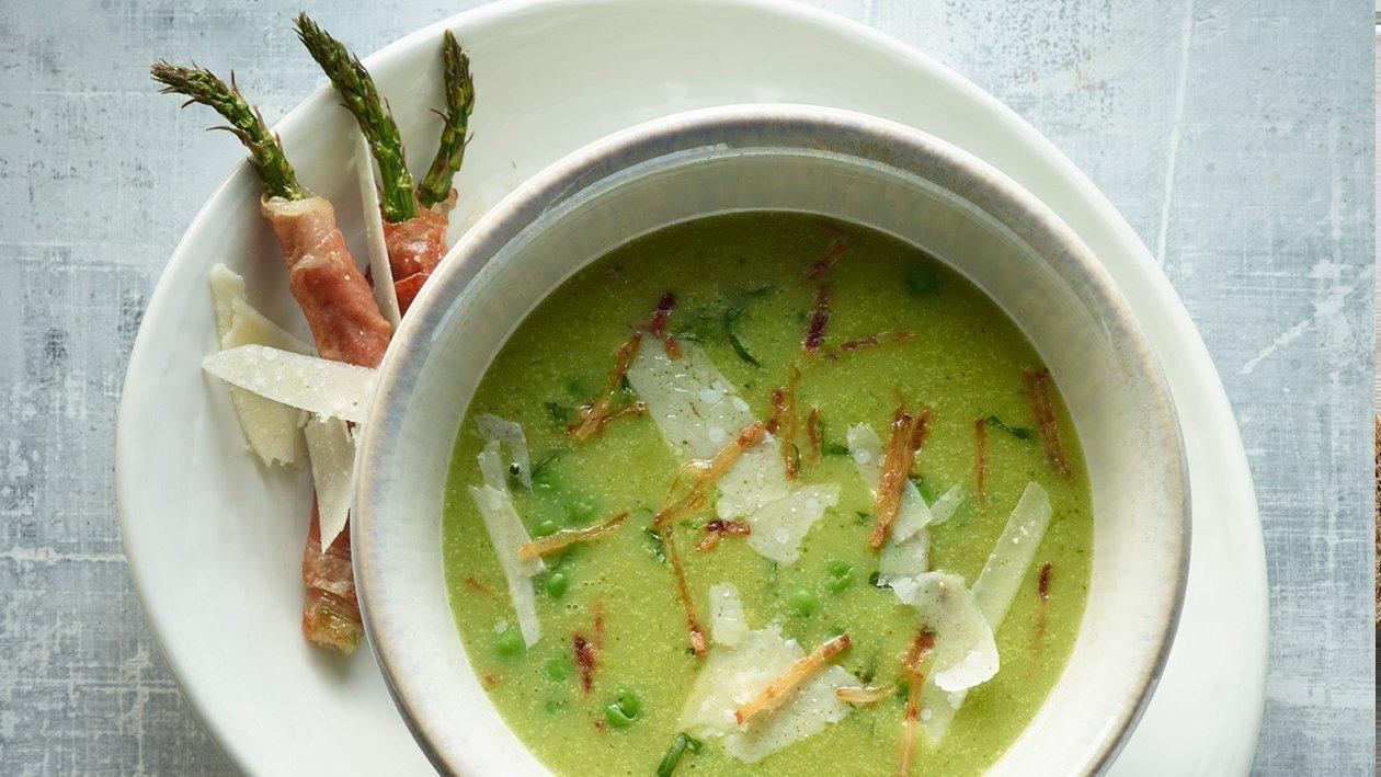 Pea, Asapragus  & Gran Padano – recipe