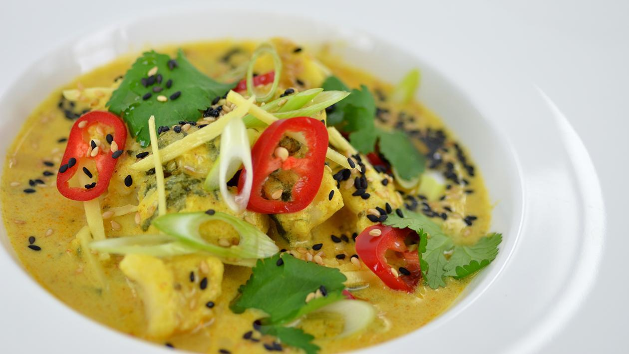 Poached monk fish curry – recipe