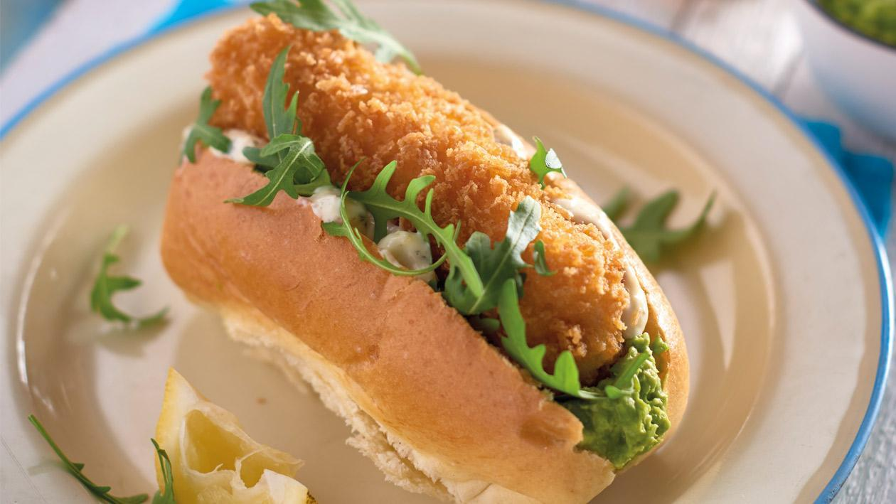 Posh fish finger sandwich with COLMAN'S tartare sauce – recipe