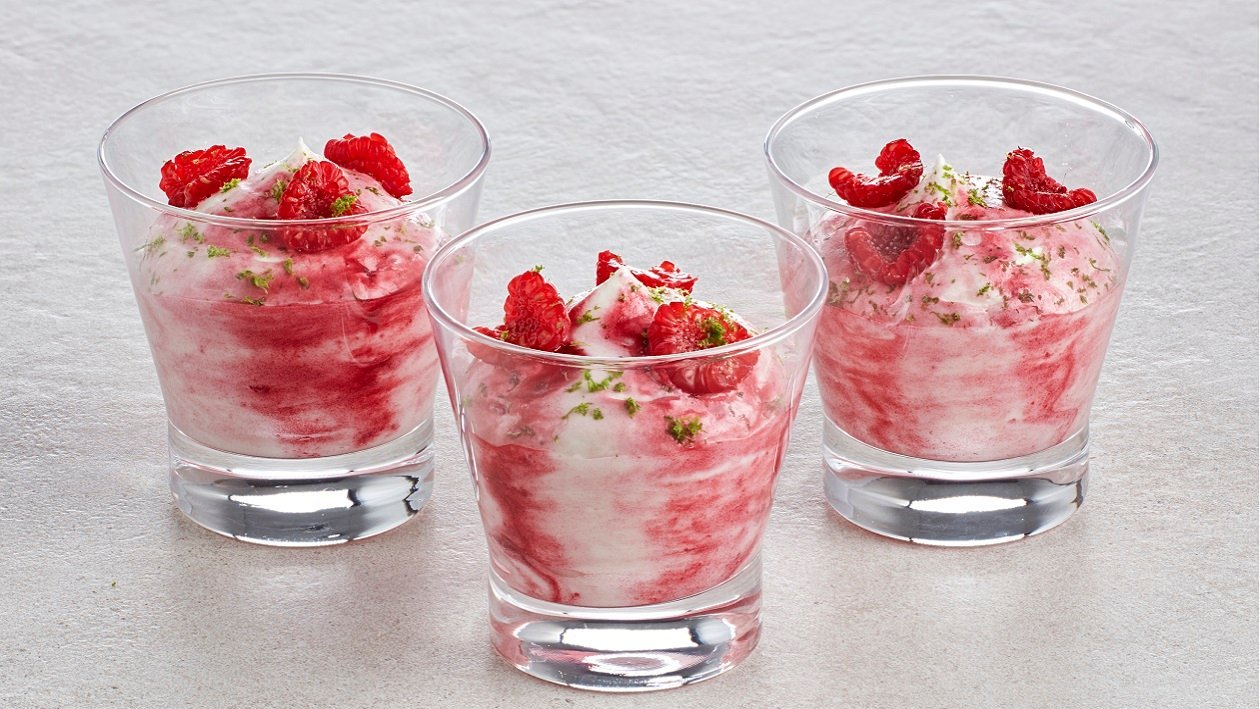 Raspberry Rippled Lemon & Lime Mousse – recipe