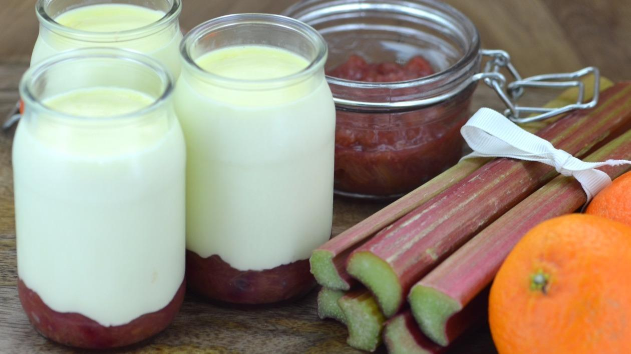 Rhubarb and orange posset – recipe