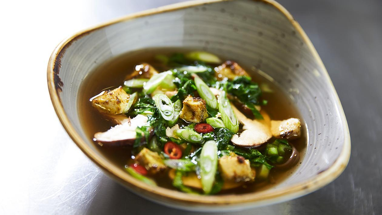 Roasted Thai spiced tofu broth – recipe