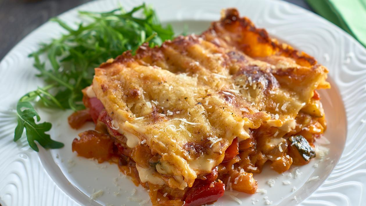 Roasted vegetable lasagne – recipe