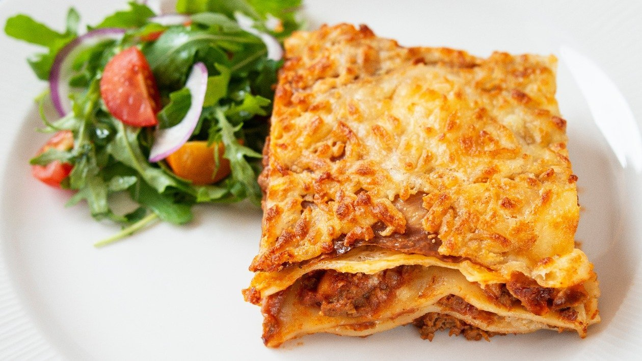 Spiced beef lasagne   – recipe