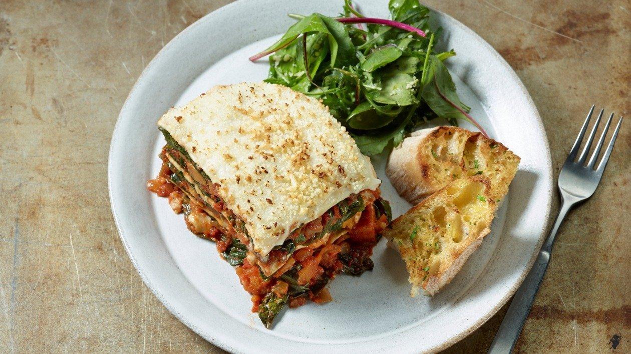 Spinach, Squash & Aubergine Lasagne – recipe