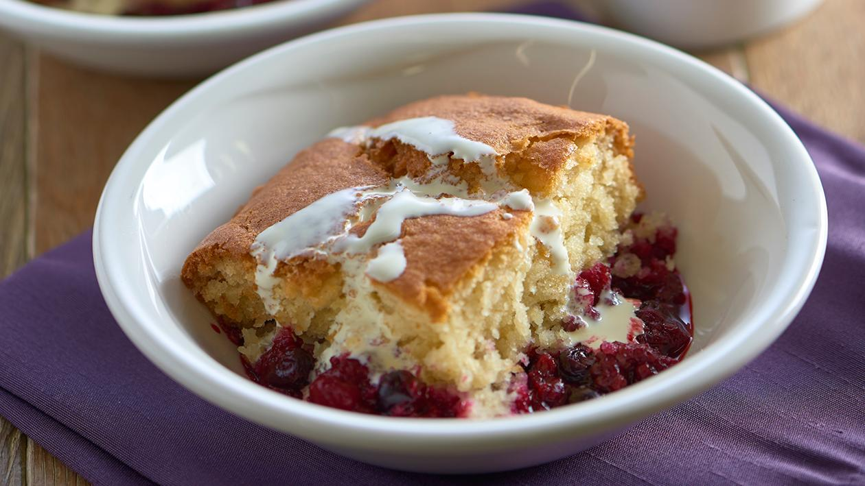 Summer fruit sponge – recipe