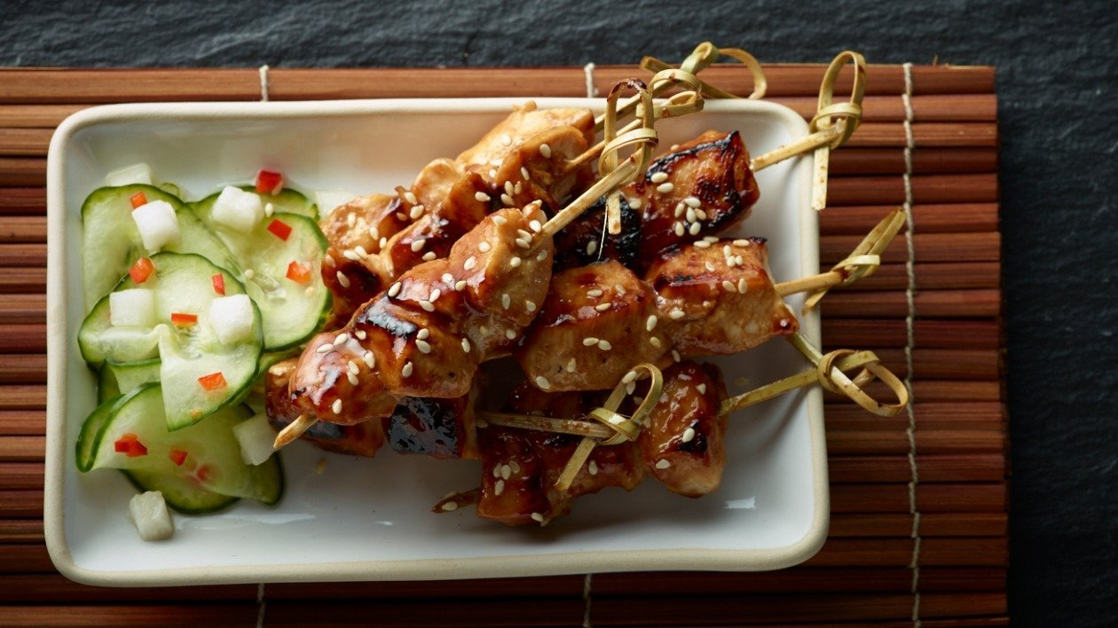 Teriyaki Chicken  Skewers  – recipe