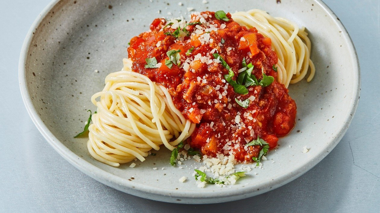 The Vegetarian Butcher  Spaghetti Bolognese  – recipe