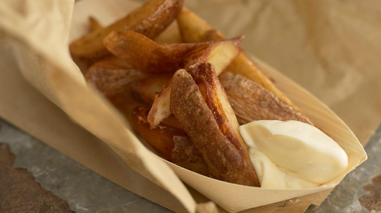 Triple cooked potato wedges – recipe