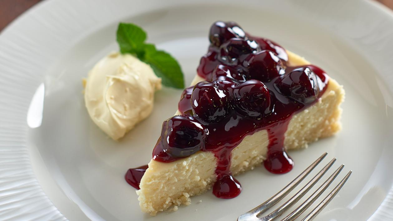 White chocolate and cherry cheesecake – recipe
