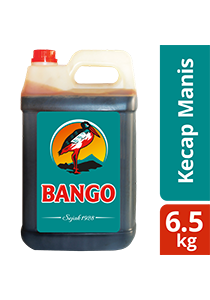 Bango Kecap Manis 6.5kg - Bango, Soy Sauce number 1, trusted by famous restaurants all over Indonesia.