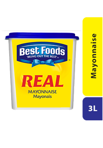 Best Foods Real Mayonnaise 3L - Best Foods Real Mayonnaise, made only from premium ingredients and preferred by chefs worldwide.