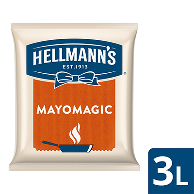 Hellmann's Mayo Magic Pouch 3L - Hellmann's Mayo Magic, the right choice with delicious mayo flavors for a variety of hot dishes!