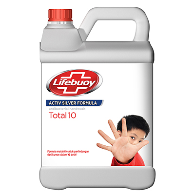 Lifebuoy Hand Soap 4L - Removes Bacteria and Germs in 10 seconds.
