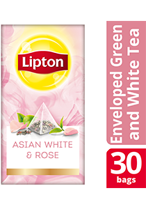 Lipton Pyramid Asian White & Rose 30x1.6g - Lipton Exclusive Selection gives your guests an exceptional tea experience