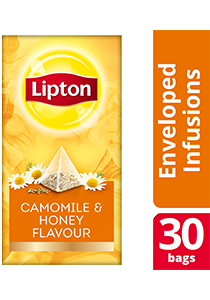 Lipton Pyramid Camomile & Honey Flavour 30x0.9g - Lipton Exclusive Selection gives your guests an exceptional tea experience