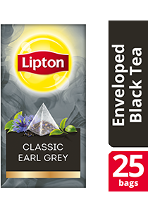 Lipton Pyramid Classic Earl Grey 25x1.8g - Lipton Exclusive Selection gives your guests an exceptional tea experience.