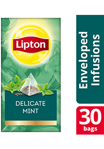 Lipton Pyramid Delicate Mint 30x1.1g - Lipton Exclusive Selection gives your guests an exceptional tea experience