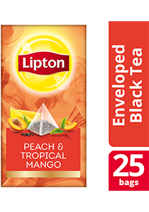 Lipton Pyramid Peach & Tropical Mango 25x1.8g - Lipton Exclusive Selection gives your guests an exceptional tea experience