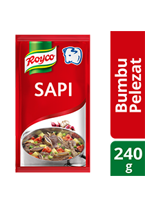 Royco Bumbu Pelezat Rasa Sapi 240g - Authentic Indonesian seasoning that delivers the delicious meaty & umami flavour.