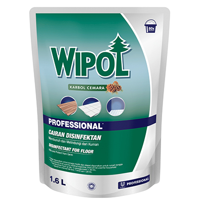 Wipol Professional Classic Pine 1.6L - Removes Stains, Malodor, and Kills Bacteria on The Floor.