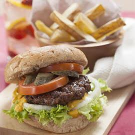 Wheat Burger with Grilled Potato