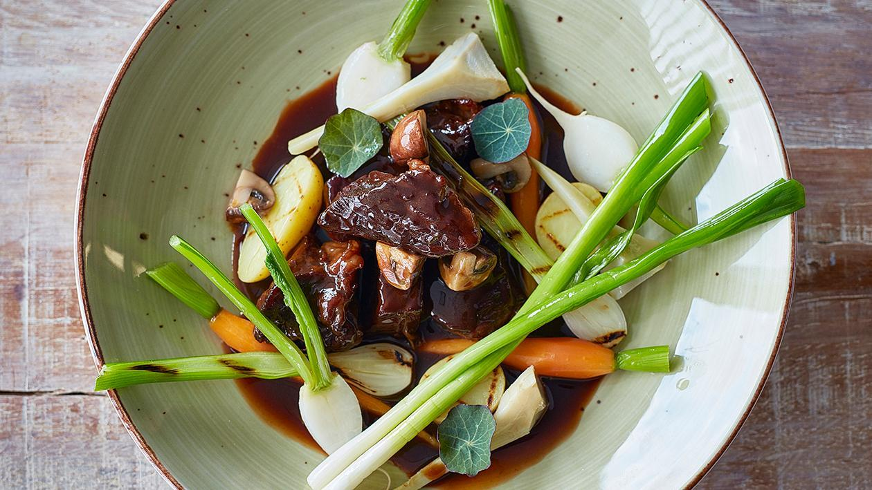 Beef Bourguignon with Dark Chocolate