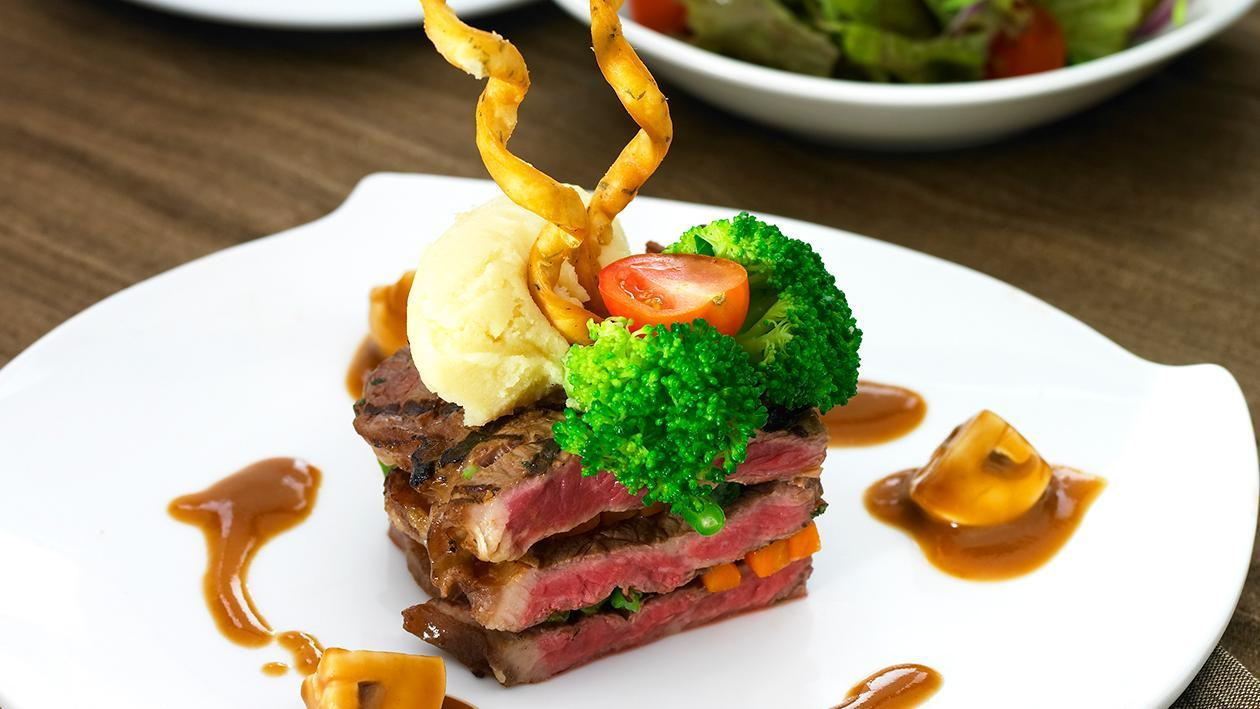 Beef Steak Mushroom Sauce