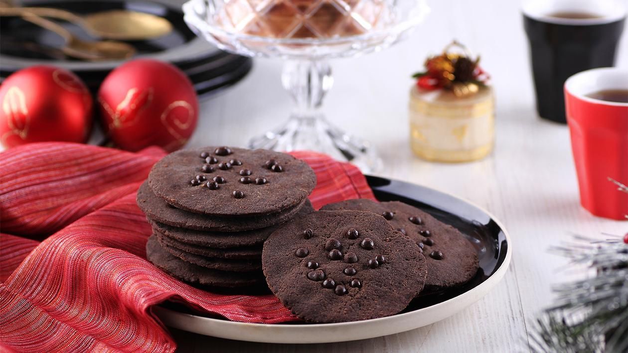Black Choco Thin Cookies
