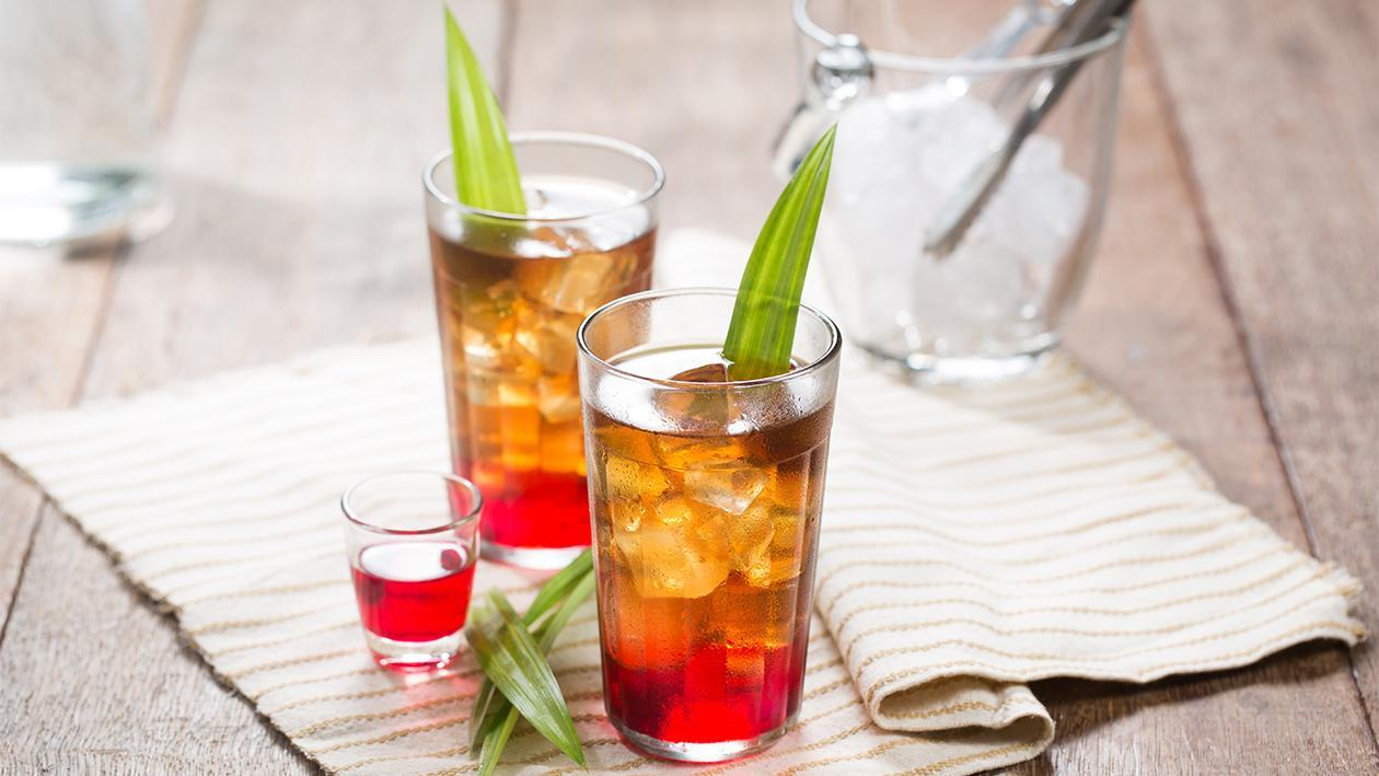 Ice Tea with Pandan Rose Syrup