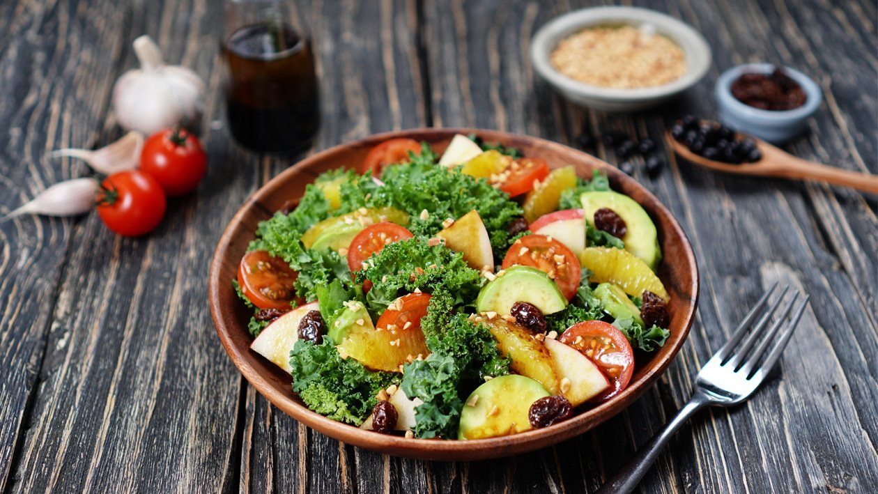 Kale Salad Balsamic Bango Dressing