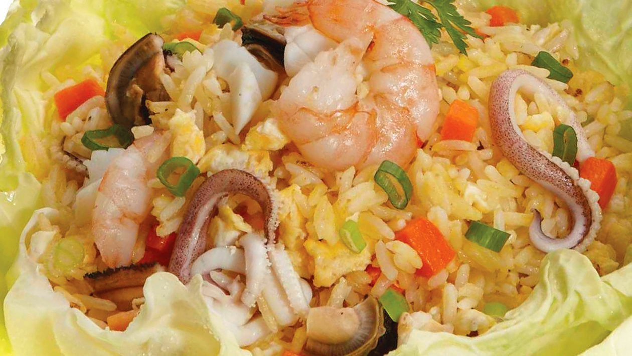 Seafood Mayo Magic Fried Rice