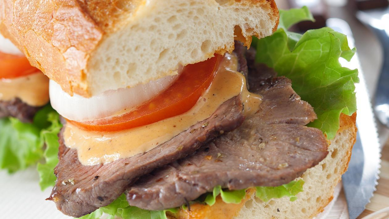 Steak Sandwich with BBQ Mayo