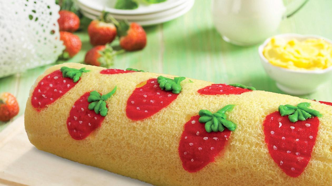 Strawberry Character Cake