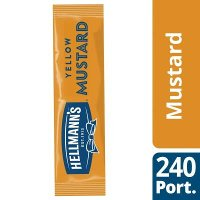 Hellmann's Mustard Portion Packs 240 x 10ml Portions