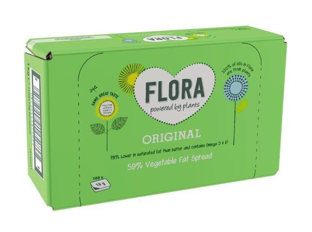 Flora Original 100 x 10g Portions