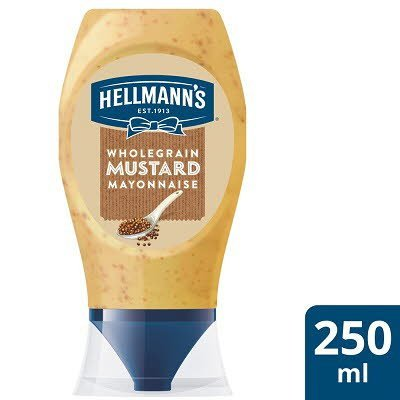 Hellmann's Mayonnaise with a pinch of mustard 250ml