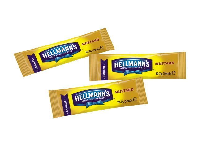Hellmann's Mustard 240 x 10ml Portions