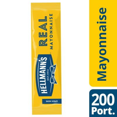 Hellmann's Real Mayonnaise 200 x 15ml Portions -