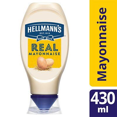 Hellmann's Real Mayonnaise Squeezy 430ml -