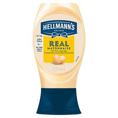 Hellmann's Real Squeezy Mayonnaise 250ml -