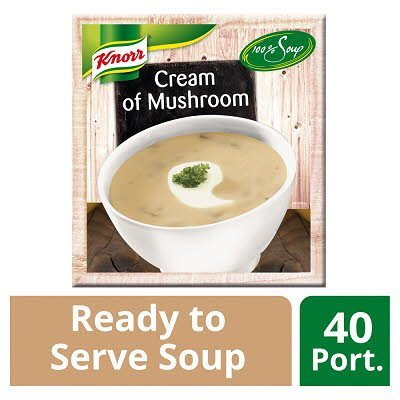 Knorr 100% Soup Cream of Mushroom 4 x 2.4L