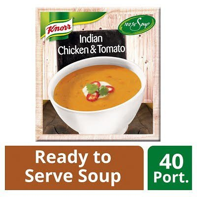 Knorr 100% Soup Indian Chicken & Tomato 4 x 2.4L -
