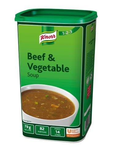 Knorr 123 Beef & Vegetable Soup 14L