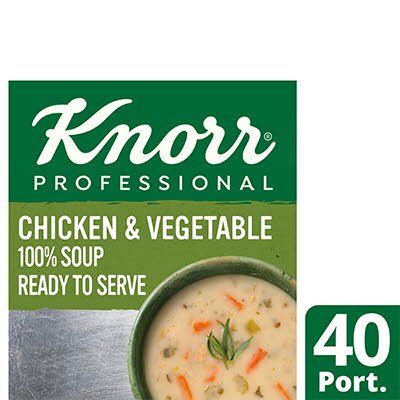 Knorr Professional 100% Soup Chicken & Veg 4x2.4L -