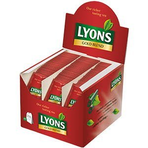 Lyons Gold Blend 200 String and Tag Enveloped Tea Bags