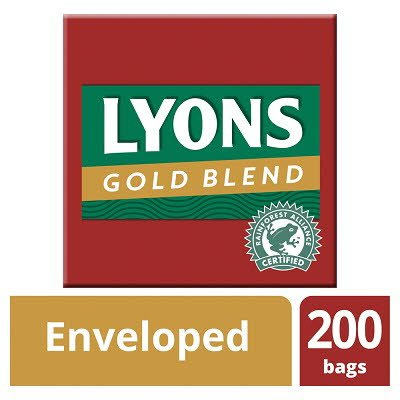 Lyons Gold Blend 200 String and Tag Enveloped Tea Bags -
