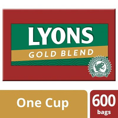 Lyons Gold Blend 600 1 Cup Catering Tea Bags -