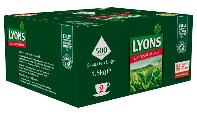 Lyons Original 500 2 Cup Catering Tea Bags