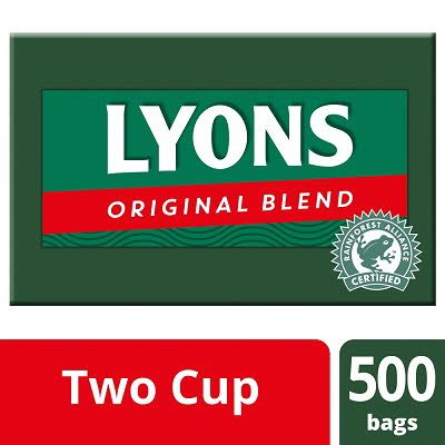 Lyons Original 500 2 Cup Catering Tea Bags -